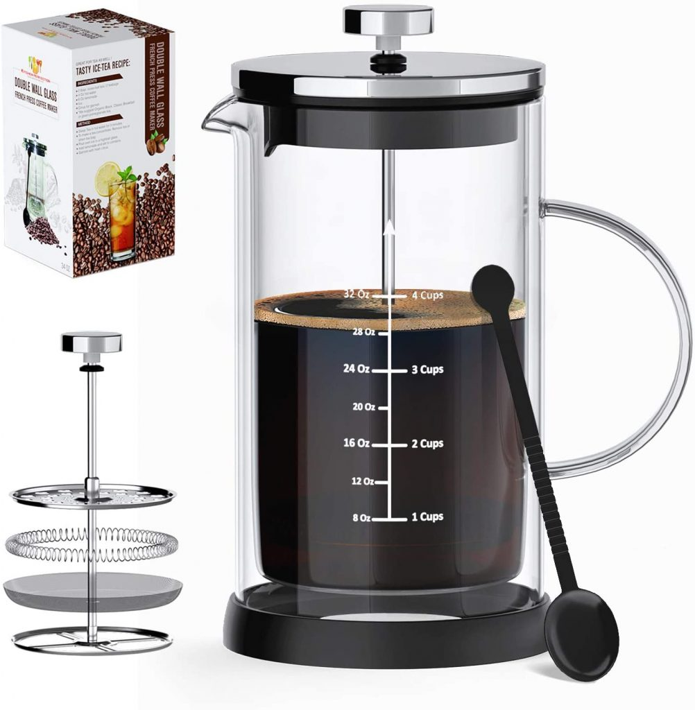 8. French Press Coffee Maker & Tea Maker by Kitchen perfection