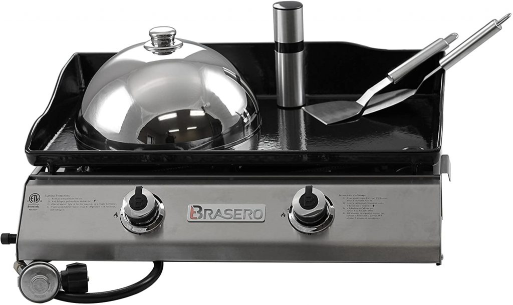 8. Brasero Portable Flat top Gas griddle