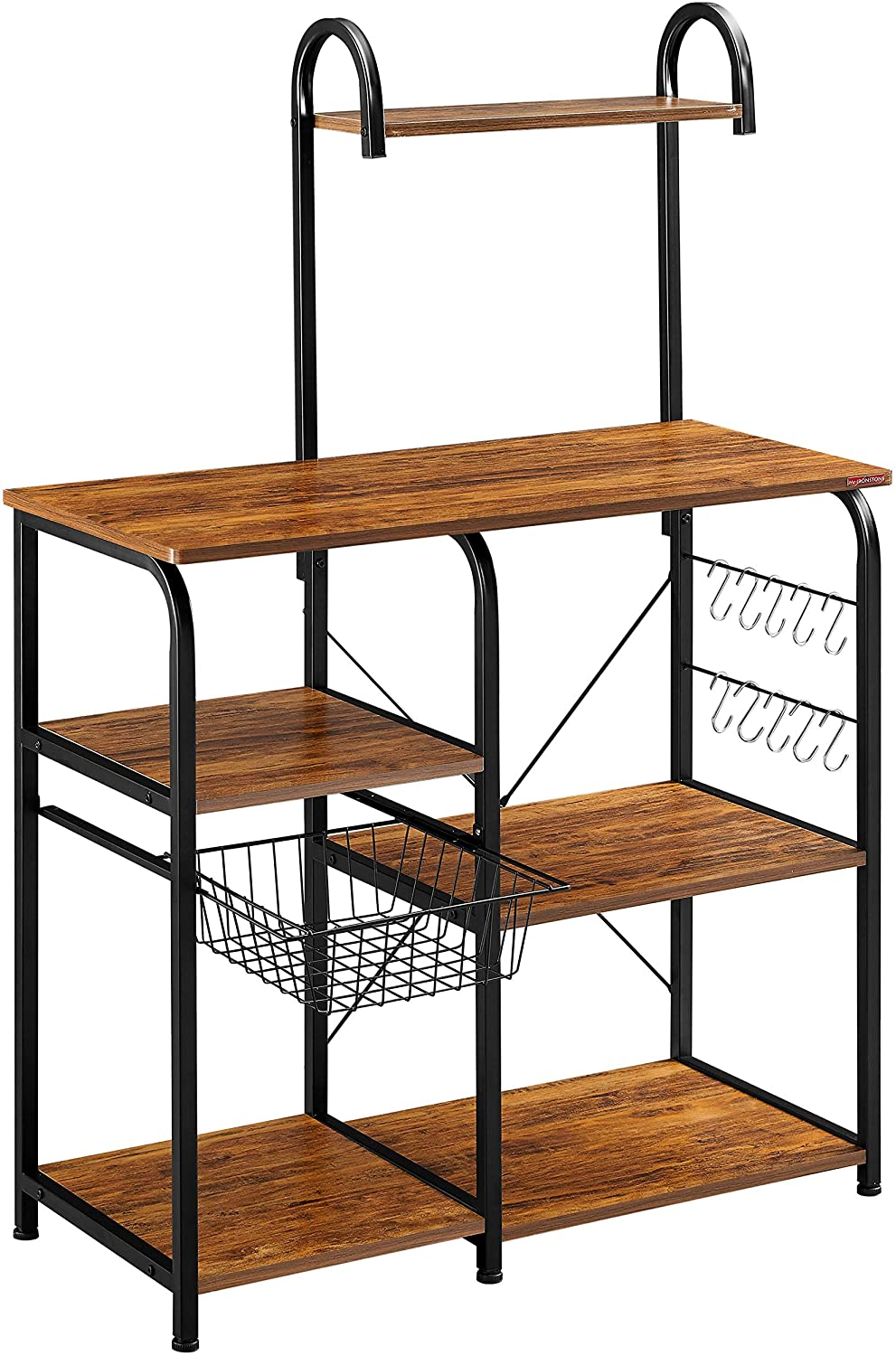 3. Mr IRONSTONE Vintage Kitchen Baker's Rack