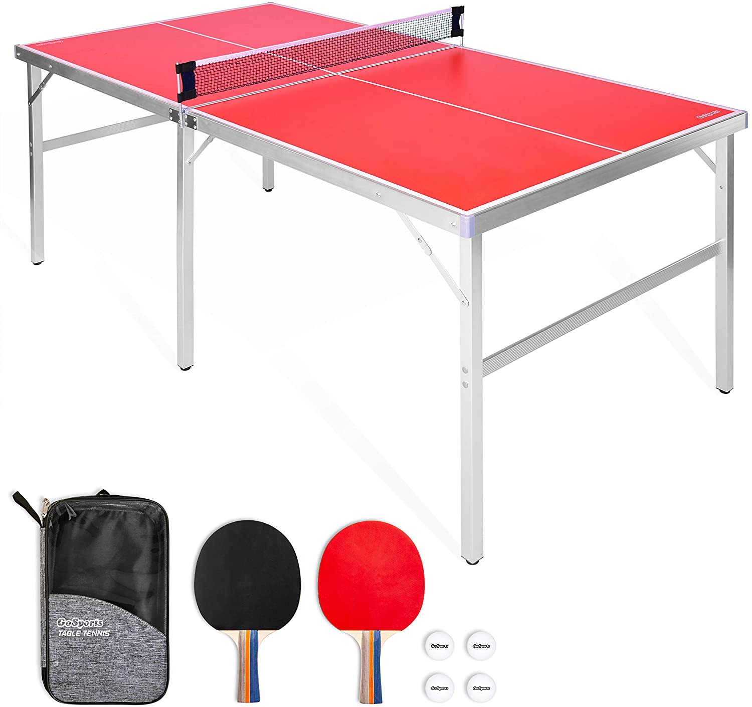 9. GoSports Mid-size Table Tennis Game Set