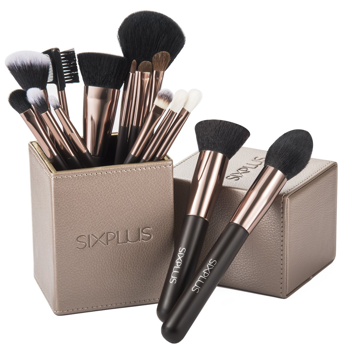 7. SIXPLUS Coffee Makeup Brush Set