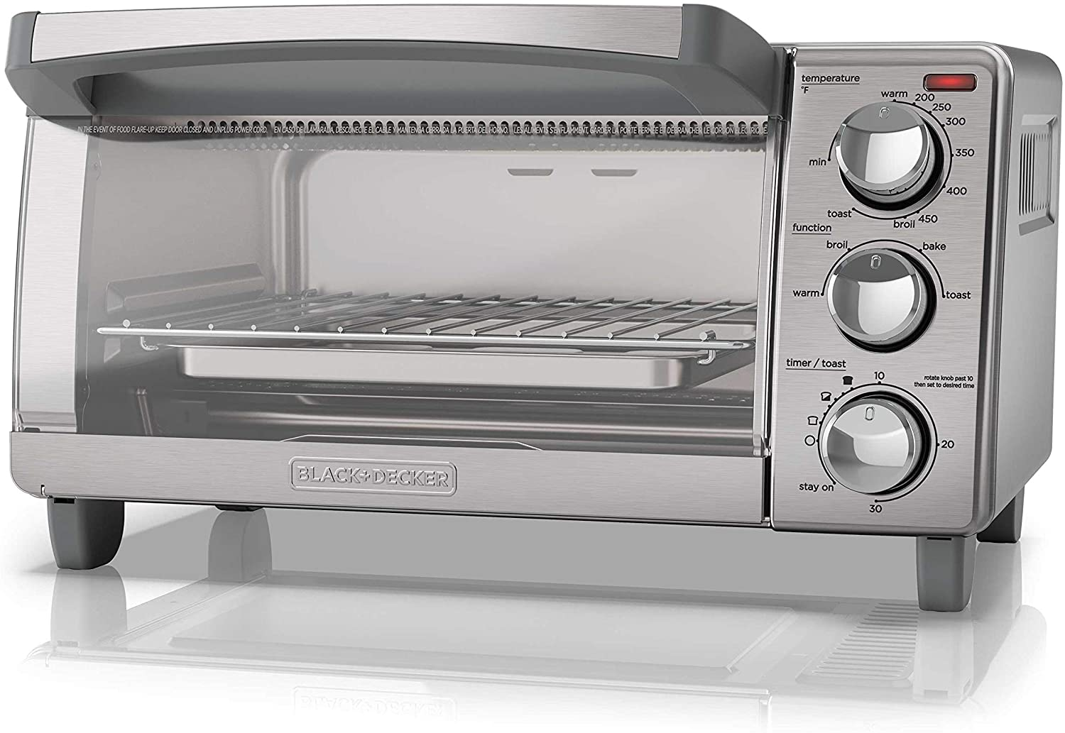 6. BLACK+DECKER Toaster Oven with Natural Convection