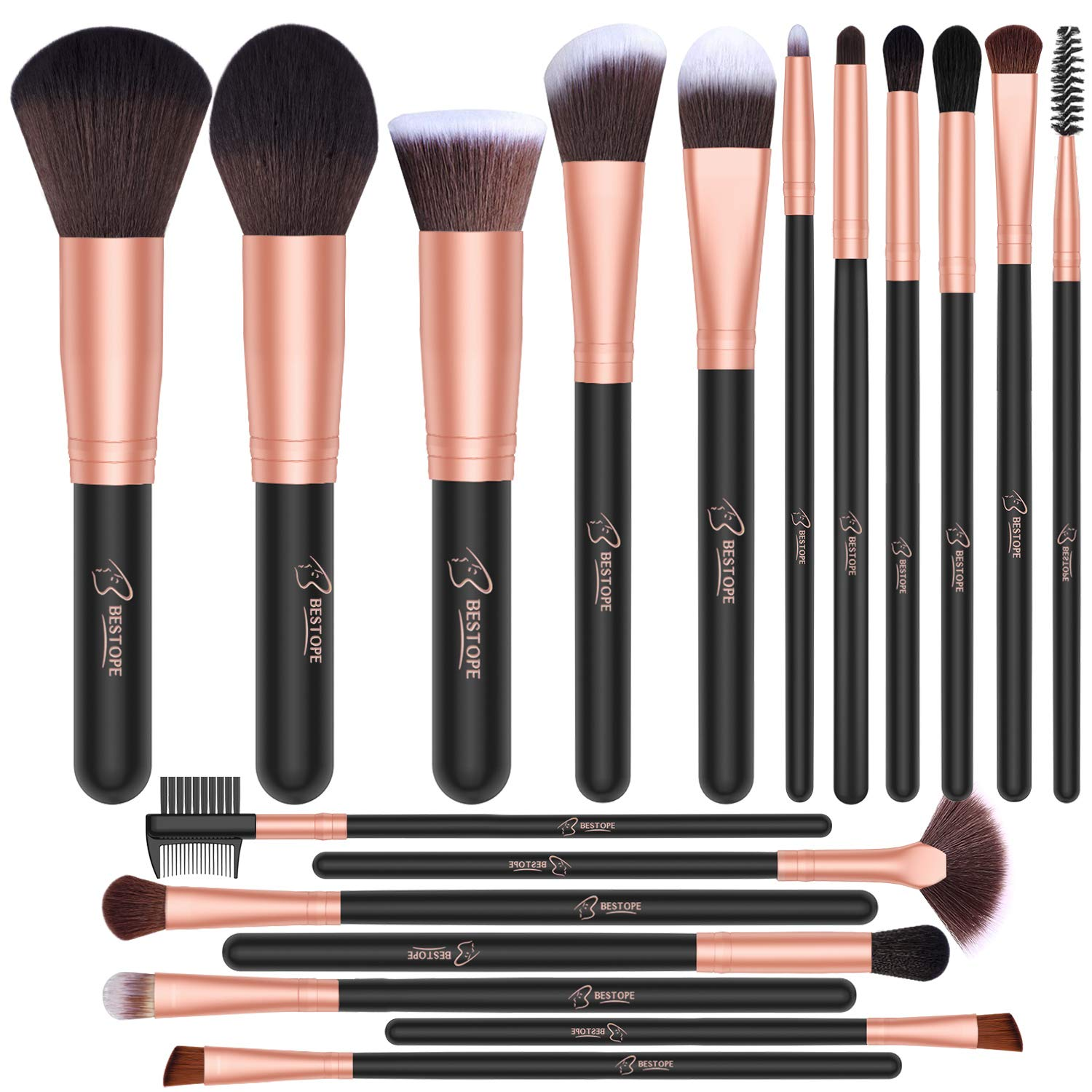8. BESTOPE Makeup Brush Set