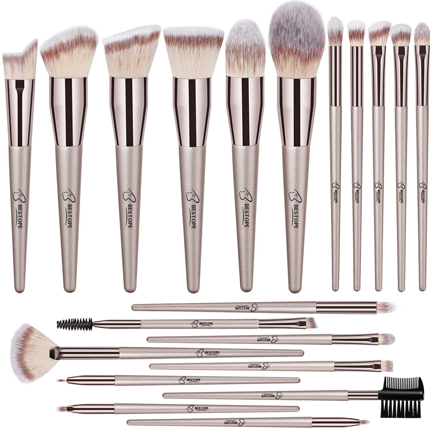 3. BESTOPE 20 PCs Makeup Brushes