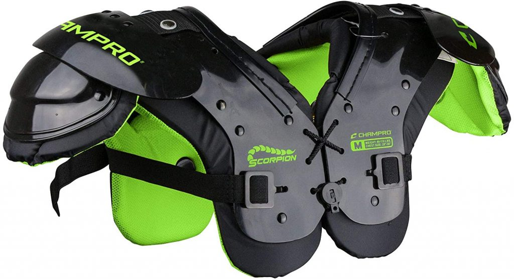 7. CHAMPRO Scorpion Youth Shoulder Pad