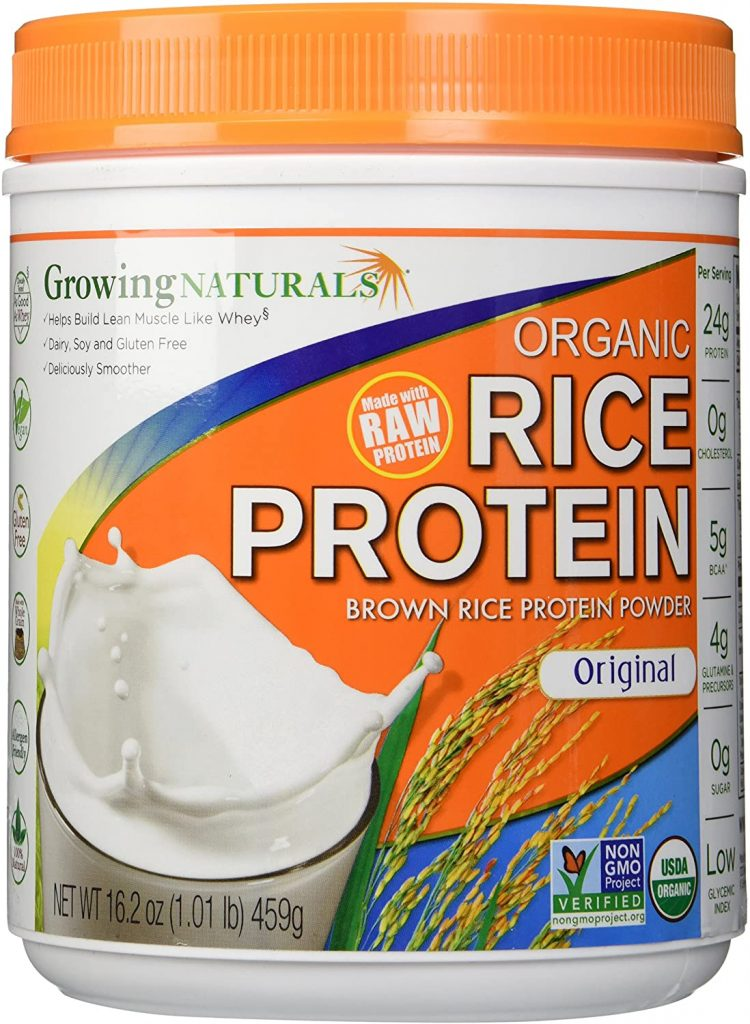 7. Growing Naturals Organic Rice Protein Powder