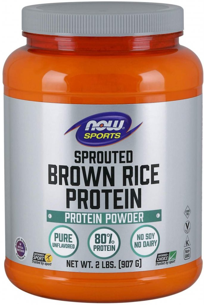 4. NOW Sports Sprouted Brown Rice Protein