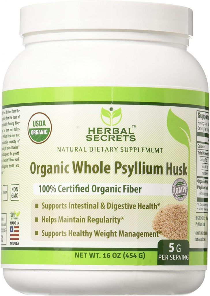 9. Herbal Secrets Organic Psyllium Husk