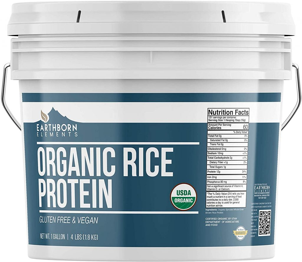 10. Earthborn Elements Organic Rice Protein Powder