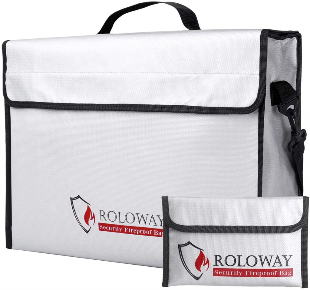 6. ROLOWAY Fireproof Document Bag