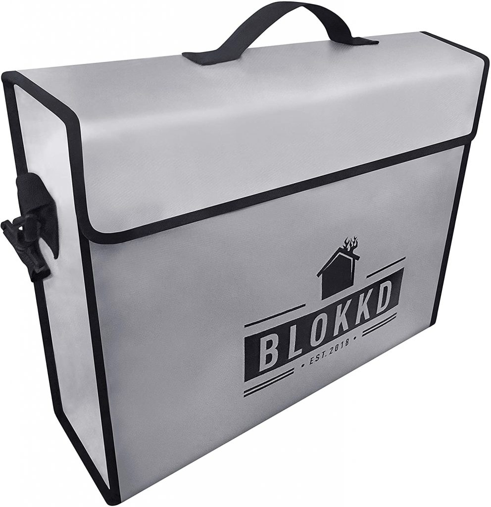 5. BLOKKD Fireproof Document Bag