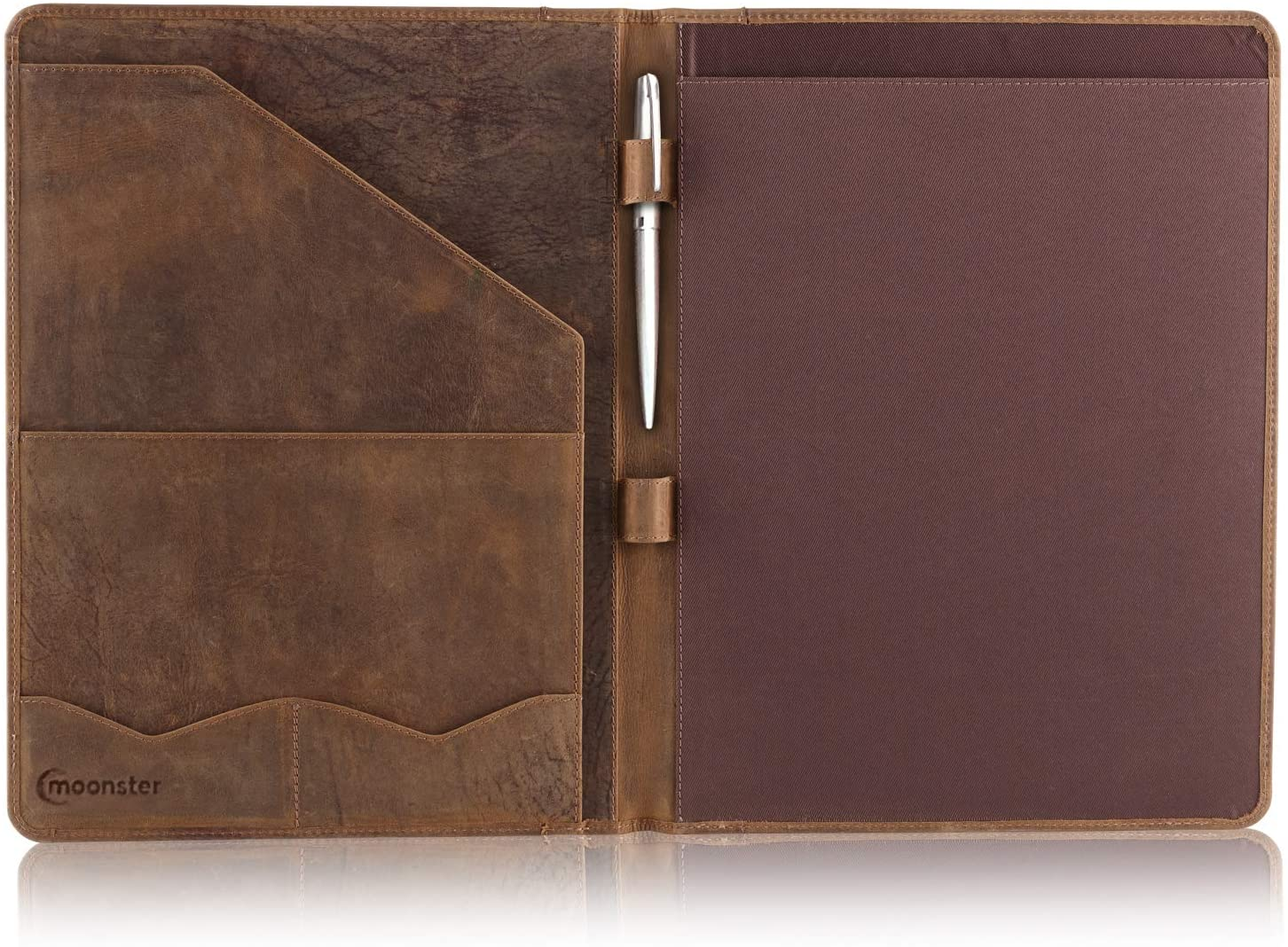 <strong>8. Leather Portfolio Organizer Padfolio</strong>