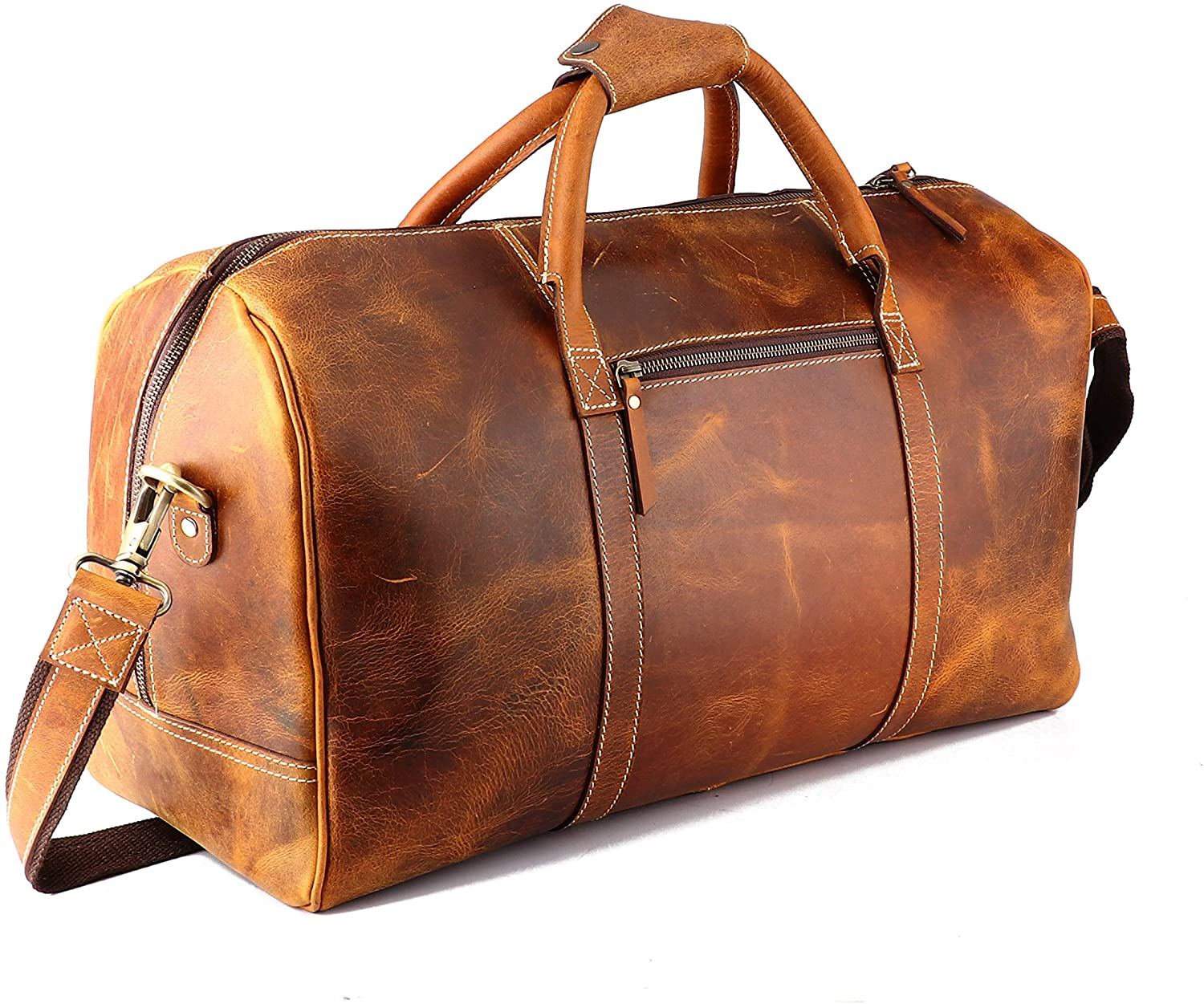 8. Leather Castle Carry-on Luggage Bag,